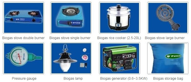 Build a Biogas Plant - Biogas Appliances
